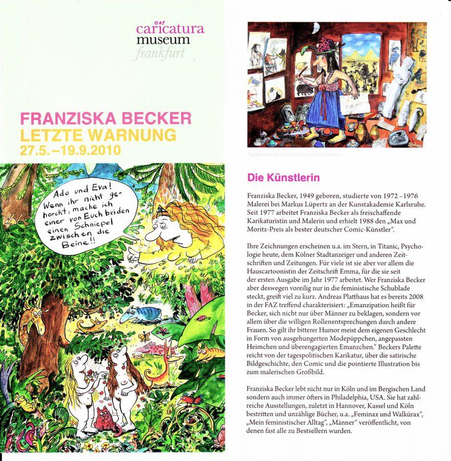 Franziska Becker,caricatura 2010