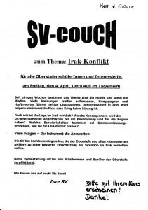 SV COUCH Irak 2003 1200