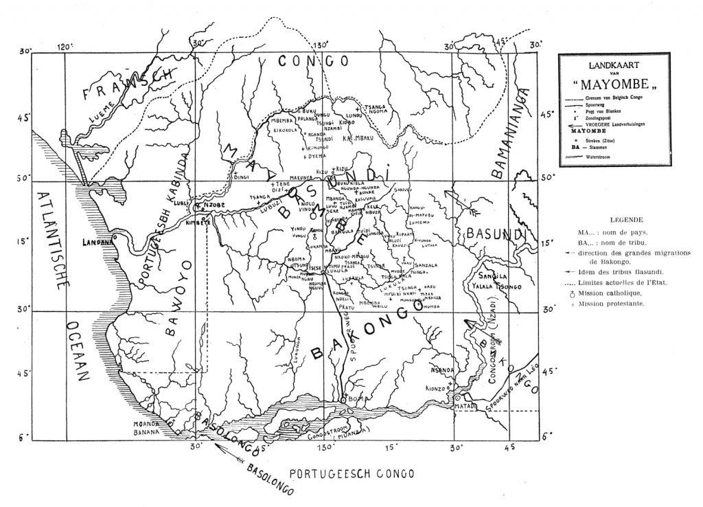 "Bittremieux 1911 Landkaart van ""Mayombe"""