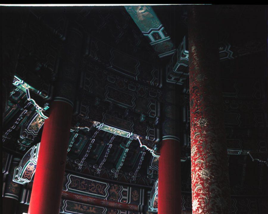 Peking - Kaiserlicher Himmelstempel, 'ausschließlich aus Holz errichtet'