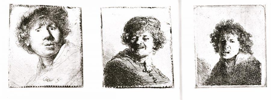 1630/31, Willem Enzynck - Rembrandt in de Spiegel, Servire Den Haag, o.J. um 1958, p.20/21