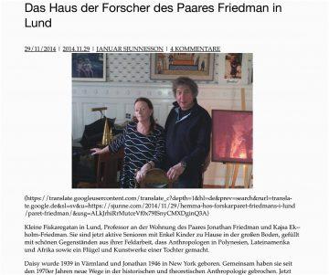 Ekholm & Friedman, Lund 2014
