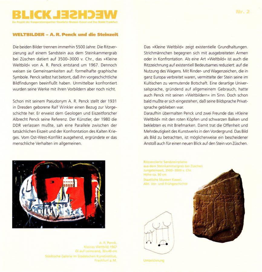 'Weltbilder - A.R.Penck und die Steinzeit' 2005_Städel