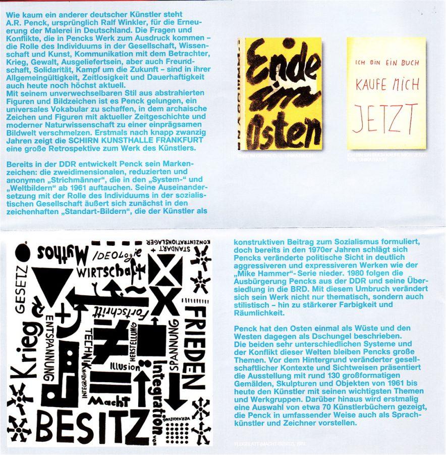 Foto: Flyer 'A.R.Penck' 2007_Schirn