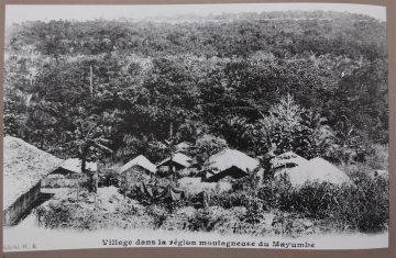 Dorf im Mayombe-Bergland