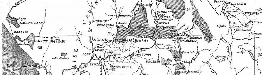 Touring Club Karte_Ausschnitt: nördlich und südlich des Lubuzi