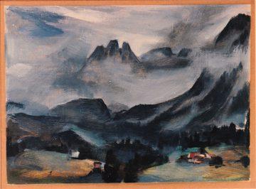 Wiegmann Berner Alpen, vermutlich um 1970 gemalt