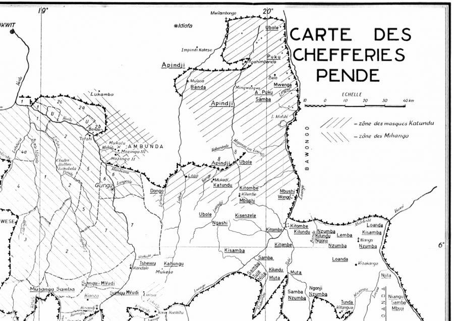 Sousberge-Pende-Karte - Katundu in der Mitte.