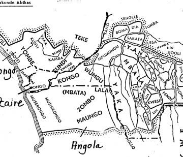 Congo - Pende, map of Baumann