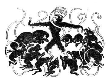 """""""Monkeys Pilgerfahrt """"1947 Illustr.p. 7 von Georgette Boner"""