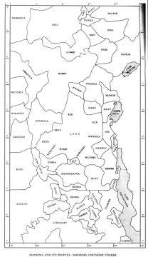 """Karte Felix """"Maniema"""" - Man beachte die Enklave der Kusu östlich des Lualaba ínmitten von Hemba"""