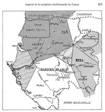 Perrois -Sculp. Gabonais-carte-Antropos 1968:9- p.877