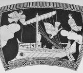 Sirene, Odyssee. Furtwaengler1924009, attisch 5.Jh.v.Chr.
