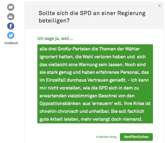 Sollte sich die SPD? 24.11