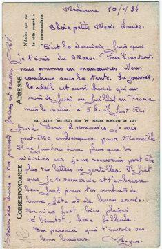 Postkarte aus Mediouna 1934_0001
